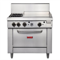 Thor 36in Freestanding Oven Range With Griddle and 2 Burners Natural Gas GE543-N