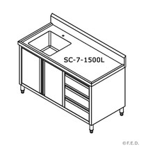 SC-7-1500L-H KITCHEN TIDY CABINET WITH LEFT SINK
