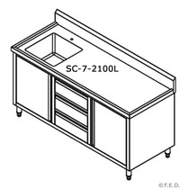 SC-7-2100L-H KITCHEN TIDY CABINET WITH LEFT SINK