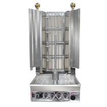 KMB4E Semi-automatic Kebab Machine Natural Gas 4 Burner