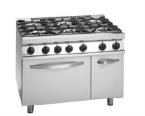 Fagor 700 Series Natural Gas 6 Burner with Gas Oven and Neutral Cabinet under CG7-61H