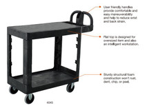Trust BITBAR Utility Cart 2 Shelf Medium Flat Shelf (PLT-119-4045)