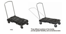 "Trust Utility Trolley Folding Handle 5"" castors (PLT-119-4482)"