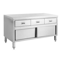 SKTD-1200 Kitchen Tidy Cabinet Work Bench with Doors & 3 Drawers