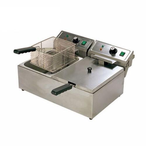 Deaken Commercial 20L Twin Pan Electric Benchtop Deep Fryer