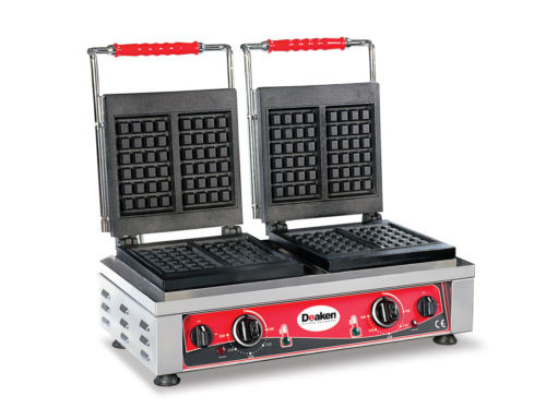Deaken Commercial Electric Double Waffle Iron