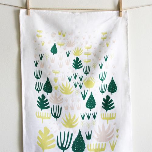 Agave Shapes Tea Towel