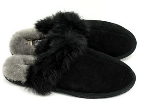 IGLOO SUEDE SLIPPER BLACK (4021106)