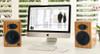 Audioengine A5+ Natural Bamboo Premium Powered Bookshelf Speakers