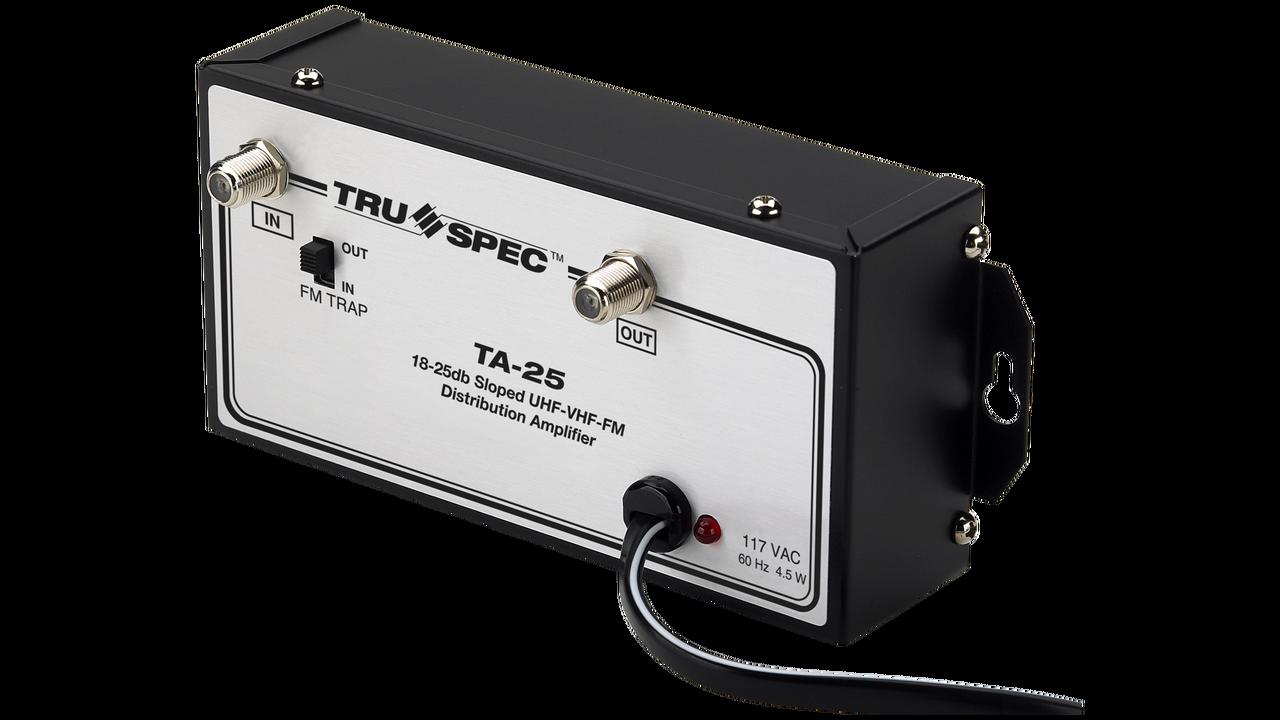 Tru Spec By Pico Macom Ta 25 18 25db Sloped Uhf Vhf Fm Distribution 5 Watt Tv Amplifier