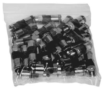 Perfect Vision PV6UE-05 Ridgeloc RG6 Universal Compression Connector (bag of 50) precision machined