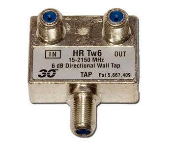 Sonora HRTw106 High Performance 6 dB Wall Tap 1-Port, 2-2400 MHz