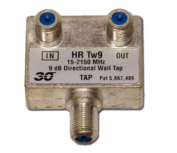 Sonora HRTw109 High Performance 9 dB Wall Tap 1-Port, 2-2400 MHz