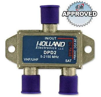 Holland DPD2 2 Amp Satellite Diplexer for DishPro Installations