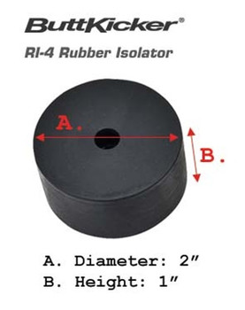 ButtKicker RI-4 Medium Rubber Isolators - 5 Pack
