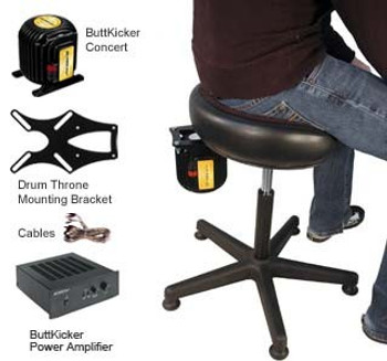 Buttkicker DTM-KIT Drum Throne Rig for Drummers & Seated Players
