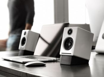 Audioengine A2+ Powered Desktop Speakers - White (Pair)