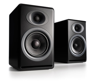 Audioengine P4 Passive Bookshelf Speakers - Matte Black (Pair)
