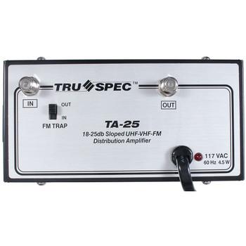 TA-25 Pico Macom Tru Spec UHF-VHF-FM 25dB Distribution Amplifier - front view