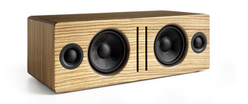 Audioengine B2 Premium Bluetooth Speaker - Zebrawood (B2-ZBR) - Front Angle No Grill
