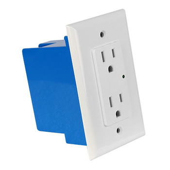 ELE9020 In-Wall Single Gang Surge Protector 1800 Joules (White) - Side View