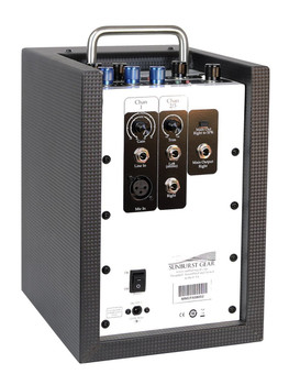 Sunburst Gear MM1P 3-Channel Mixer/Monitor Compact Portable All-In-One PA Speaker System - Rear side view