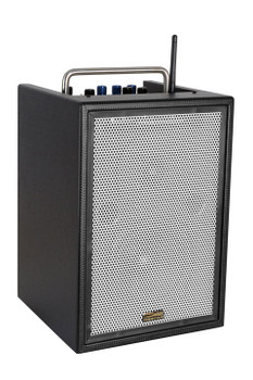 Sunburst Gear M6BR8 6 Channel Mixer/Monitor Portable All­‐in­‐One Rechargeable Bluetooth PA Speaker System - front side view