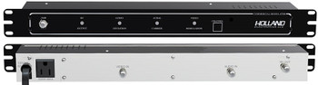 Holland HSM55 Single Channel SAW Filtered Rack Mount RF Modulator for Private Cable TV Systems. Available in channels 2-125.