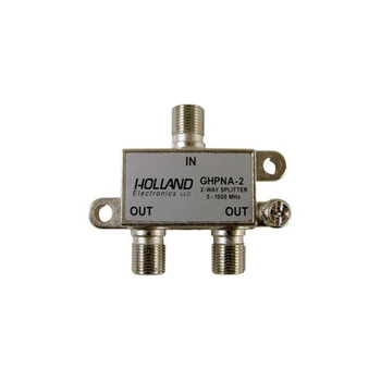 Holland Electronics GHPNA-2 IPTV Broadband 2-Way Coaxial Splitter - AT&T U-Verse approved