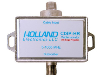Holland CISP-HR Cable Isolation Filter with Spike Protection