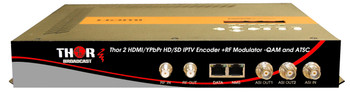 Thor H-2ADHD-QAM-IPLL 2-Channel HDMI/YpPbr/Composite to QAM & ATSC Low Latency Encoder Modulator with IPTV Streaming