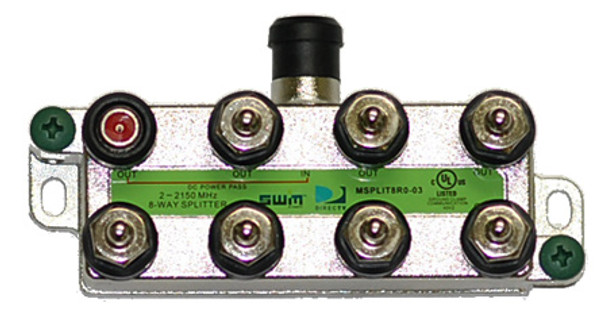 DIRECTV Approved SWM MRV 8-Way Wide Band Splitter