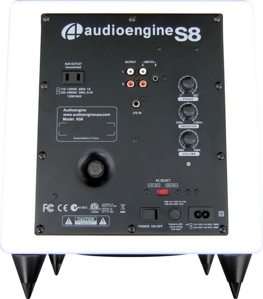 Audioengine S8 Premium Powered Subwoofer - White