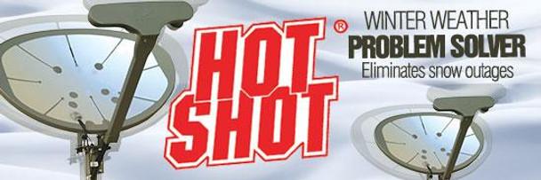 Perfect Vision HSSLNGRFKIT Hot Shot Universal Peel and Stick Satellite Dish Heater banner