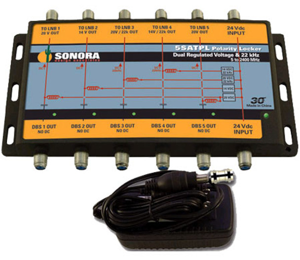 Sonora Design 5SATPL-T DIRECTV Flex Power Inserter and Polarity Locker