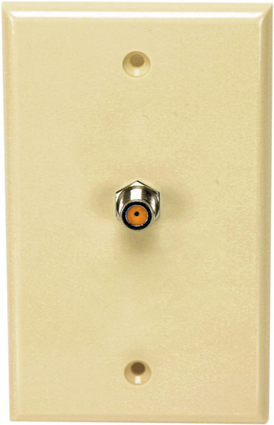 Perfect Vision WPSNPISC-05 Ivory Wall Plate with Single 3GHz F-81 Coax Connection