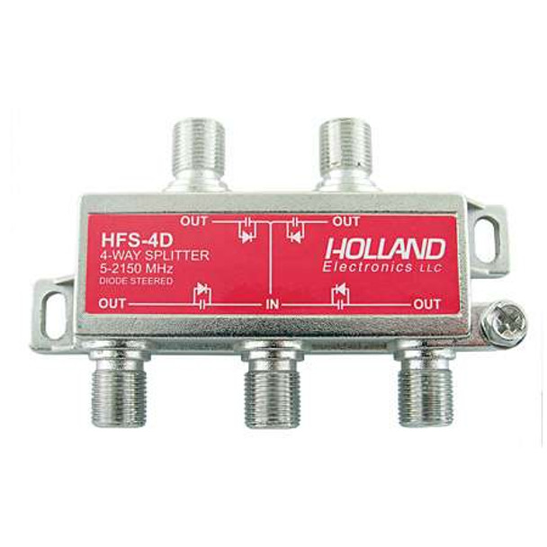 Holland HFS-4D 4-Way Diode Steered Splitter (5-2150 MHz)