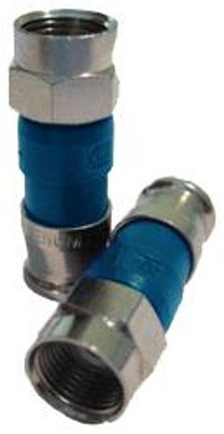 PPC EX6XLP Universal RG6 Plenum Compression F Connector (bag of 50)