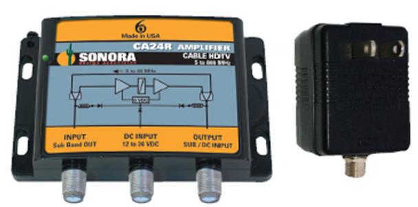Sonora CA24R-T 24dB Cable TV ATSC NTSC Drop Amplifier