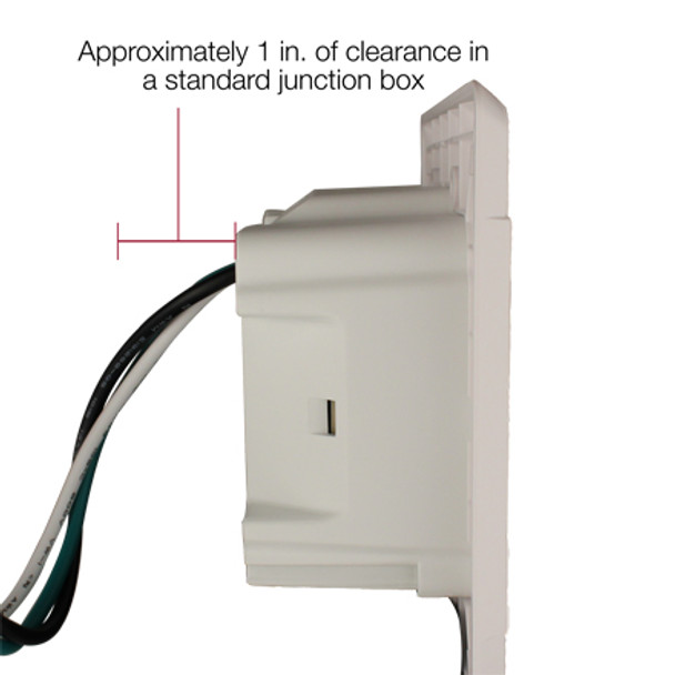 ELE9009 In-Wall Surge Protector with Recessed Dual Outlet