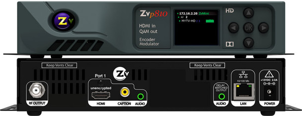 ZeeVee ZvPro 810 Single Channel Unencrypted HDMI Encoder/QAM Modulator