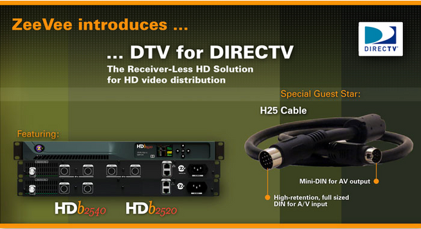ZeeVee ZV732‐3 Hydra 2ft 7in. AV Cable with Satellite DIN connector