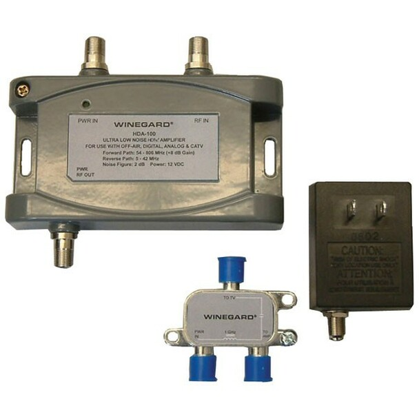 Winegard HDA-100 Distribution Amplifier 5-1000MHz 15dB Gain