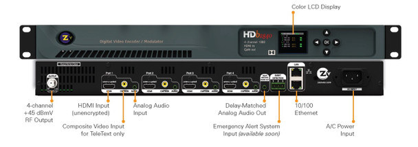 ZeeVee HDb2840 4 Channel HDMI Over Coax QAM Encoder Modulator