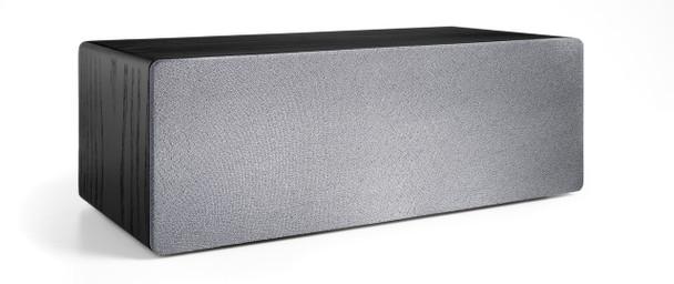 Audioengine B2 Premium Bluetooth Speaker (Black Ash) - Front with grill