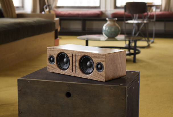 Audioengine B2 Premium Bluetooth Speaker - Walnut (B2-WAL) - With Grill on Chest