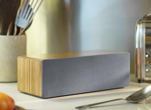 Audioengine B2 Premium Bluetooth Speaker - Zebrawood (B2-ZBR) - Music in Kitchen