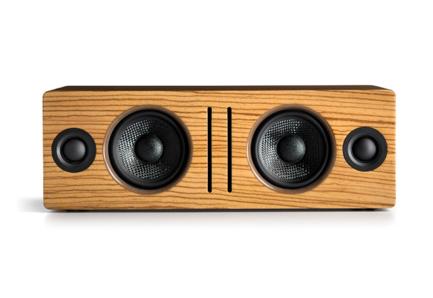 Audioengine B2 Premium Bluetooth Speaker - Zebrawood (B2-ZBR) - Front No Grill