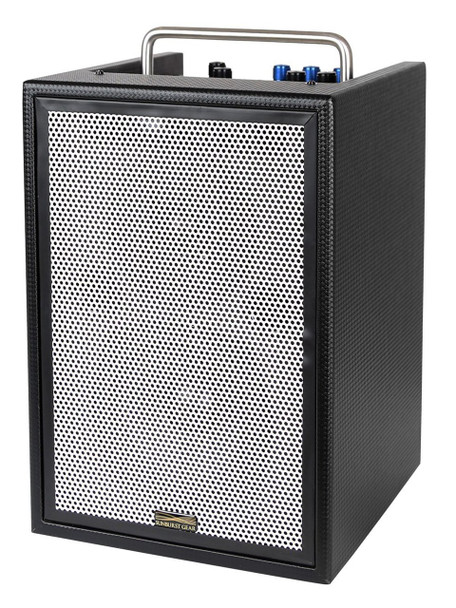 Sunburst Gear MM3P Three Channel Mixer/Monitor Portable All-in-One Battery Powered PA Speaker System - front side view