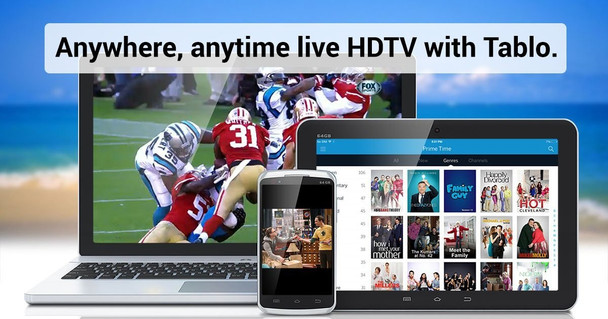 Tablo SPVR4-01-NA 4-Tuner Whole Home Over-The-Air HD DVR for HDTV Antennas - Live TV Anywhere